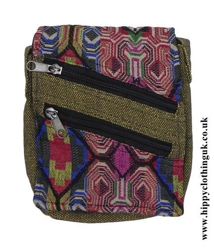Green-Passport-Bag-with-Multicoloured-Patterns-close-up