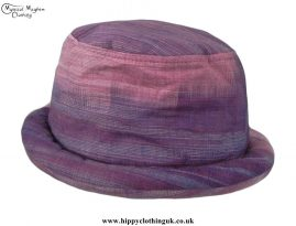 Pink-Purple-Thai-Cotton-Hippy-Rimmed-Hat