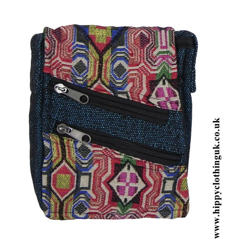 Turquoise-Passport-Bag-with-Multicoloured-Patterns-close-up