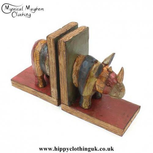 Wooden-Rhino-Bookends