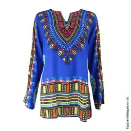Blue-Long-Sleeve-Dashiki-Tunic