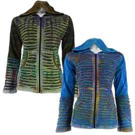 Pixie Hooded Cotton Tie Dye Jacket