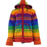 Hippy Nepalese Wool Jacket - Rainbow Wool Jacket