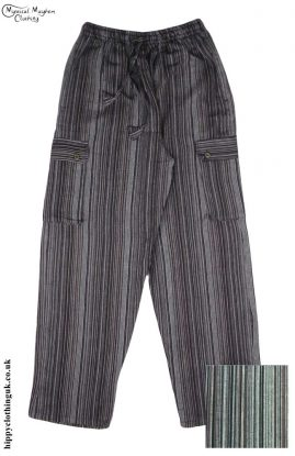 Striped-Cotton-Nepalese-Hippy-Festival-Trousers-Brown-and-Black