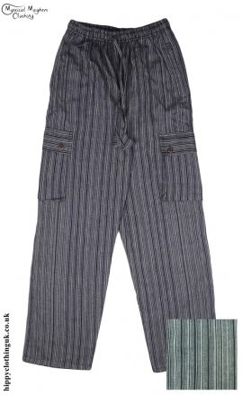 Striped-Cotton-Nepalese-Hippy-Festival-Trousers-black-and-white