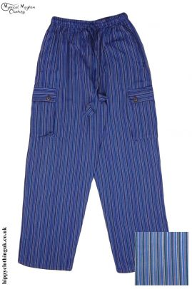 Striped-Cotton-Nepalese-Hippy-Festival-Trousers-blue-and-Purple