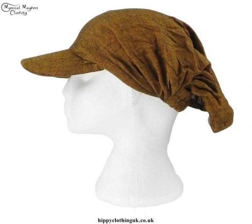 Brown-Headband-Cap