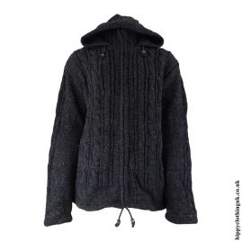 Charcoal-High-Neck-Wool-Jacket