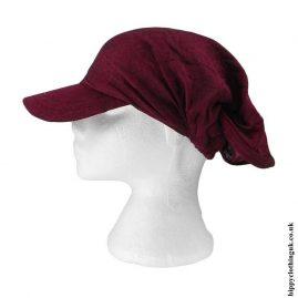 Headband-Cap-Burgundy