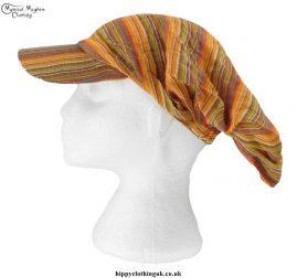 Orange-Striped-Headband-Cap