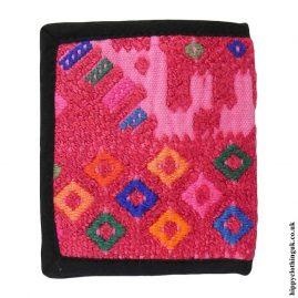 Pink-Multicoloured-Huipil-Wallet