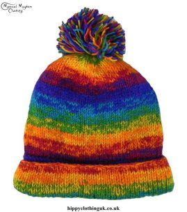 Rainbow-Tie-Dye-Wool-Fleece-Lined-Bobble-Hat