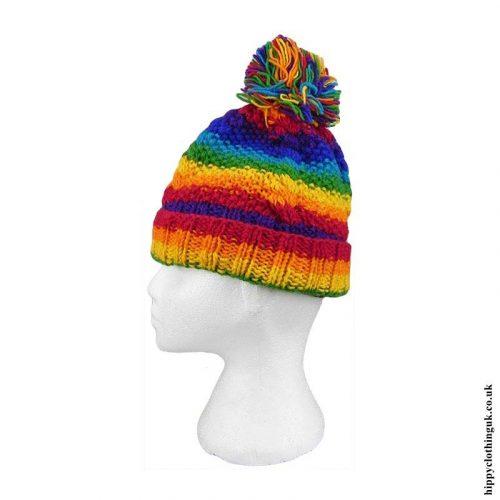 Rainbow-Wool-Fleece-Lined-Bobble-Hat