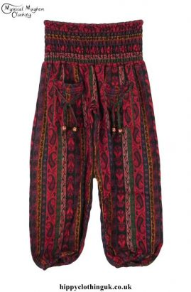 Red-Funky-Patterned-Acrylic-Trousers