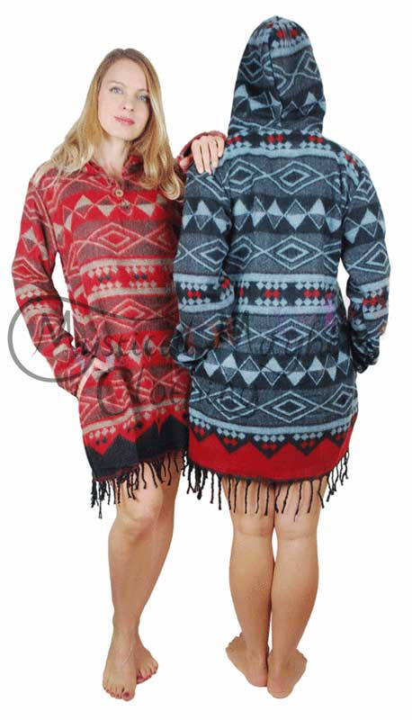Acrylic-Wool-Hooded-Hippy-Dress-Top-Example