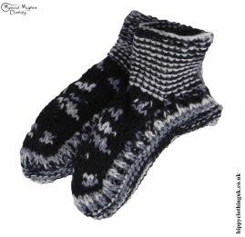 Black-&-Grey-Nepalese-Short-Wool-Socks