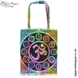 Cotton Om Hippy Shopping Tote Bag