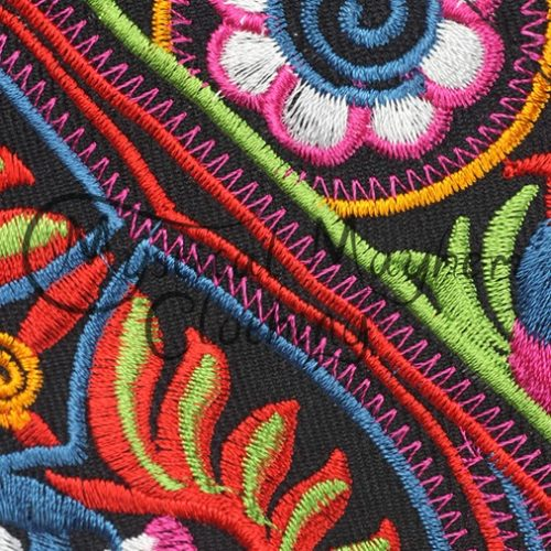Embroidered Clutch Purse - Close Up