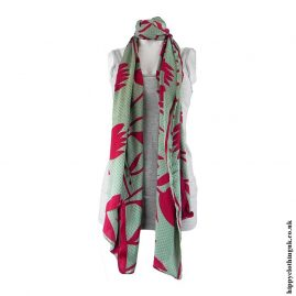 Green-and-Red-Recycled-Sari-Scarf