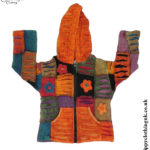 Kids Hippy Clothing - Kids Multicoloured Ripped Look Patchwork Hooded Jacket