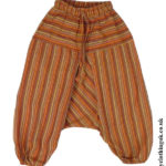 Kids Hippy Clothing - Kids Striped Ali Baba Trousers