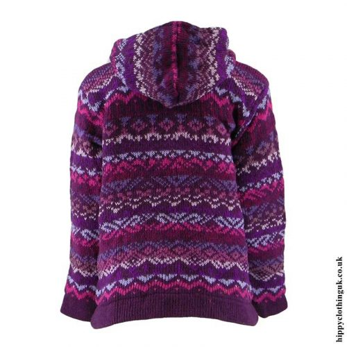 Purple-Patterned-Hooded-Wool-Jacket-Back