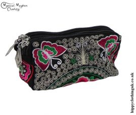 Triple-Pocket-Embroidered-Purse-Red-and-Pink