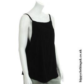 Black Open Back Vest