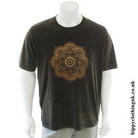 Green Stonewashed Mandala T-Shirt