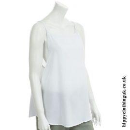 White Open Back Vest