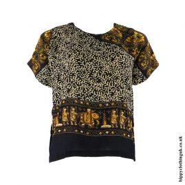 Beige-Batik-Patterned-Hippy-Blouse