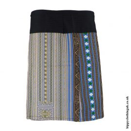Beige--Woven-Cotton-Patterned-Wrap-Skirt