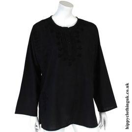 Black Embroidery Kurta Tunic