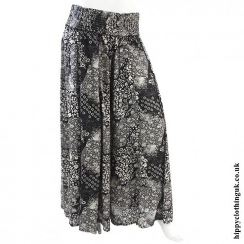 Black Wide Leg Panelled Trousers