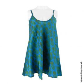 Blue-Recycled-Sari-Patterned-Camisole
