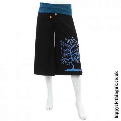 Blue Tree of Life Long Shorts