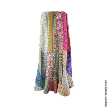 Cotton-Patchwork-Panel-Skirt