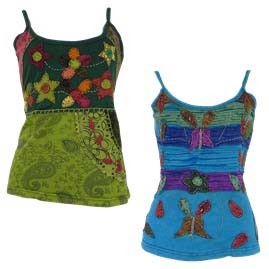 Embroidery Vest Tops