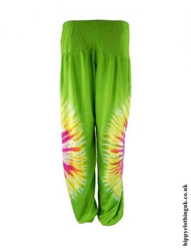 Green-Tie-Dye-Rayon-Hippy-Trousers