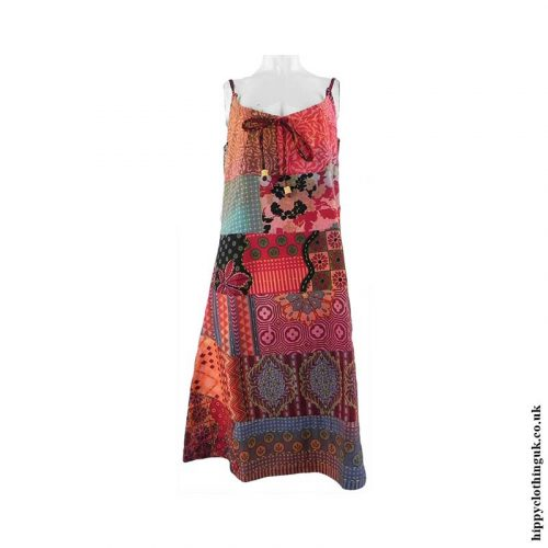 Multicoloured-Patchwork-Hippy-Dress