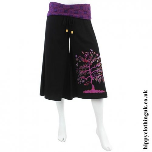 Pink & Purple Tree of Life Long Shorts