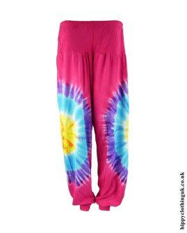 Pink-Tie-Dye-Rayon-Hippy-Trousers