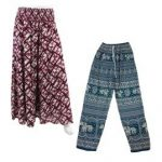 Rayon Patterned Hippy Trousers