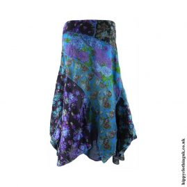 Turquoise-Floral-Hippy-Pixie-Skirt
