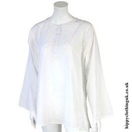 White Embroidery Kurta Tunic