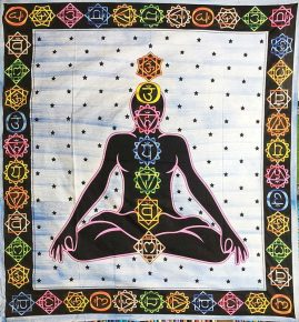 Blue-Chakra-Hippy-Throw,-Bed-Spread,-Wall-Hanging