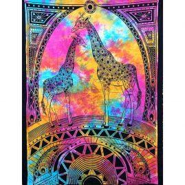 Mulitcoloured-Giraffe-Cotton-Throw