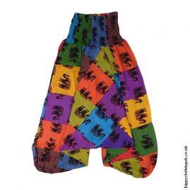 Multicoloured-Elephant-Patchwork-Harem-Pants