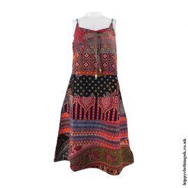 Multicoloured-Patchwork-Hippy-Dress
