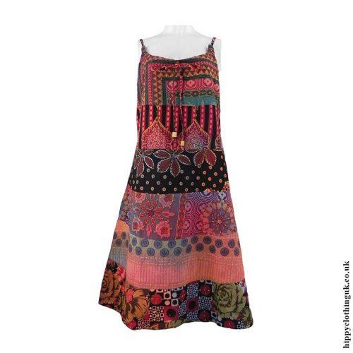 Multicoloured-Patchwork-Hippy-Dress1